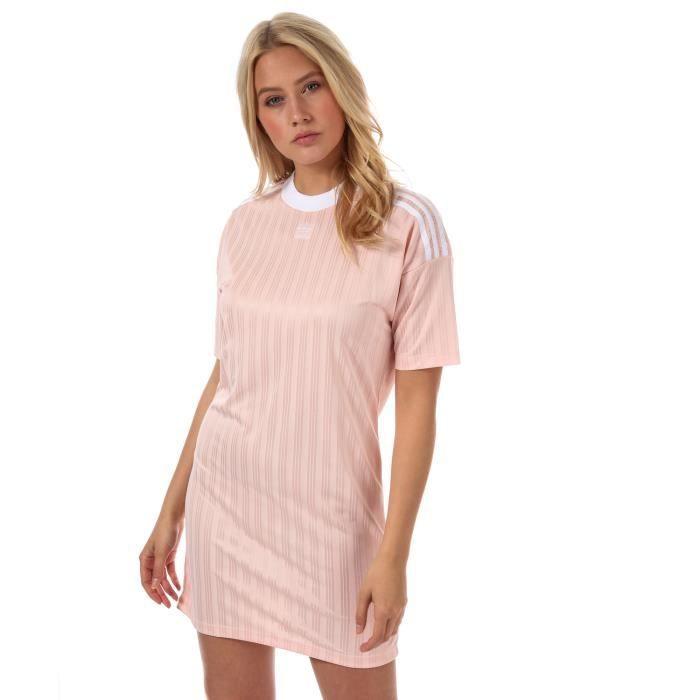 Robe adidas Originals Trèfle pour femme en rose.