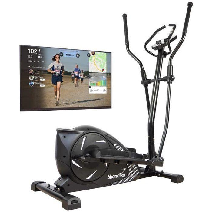 Skandika Eleganse - Vélo elliptique Crosstrainer - Bluetooth - Appli - 15 Prog - 32 Niveaux de résistance - Inertie 12 kg - Max. 130