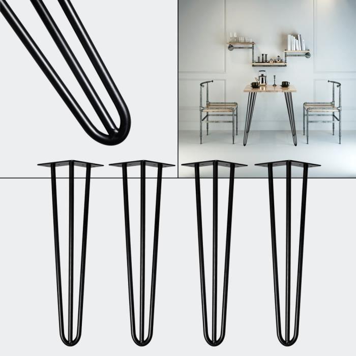 Pieds en épingle à cheveux Hairpin Legs Support Set 4 Acier 60cm Table