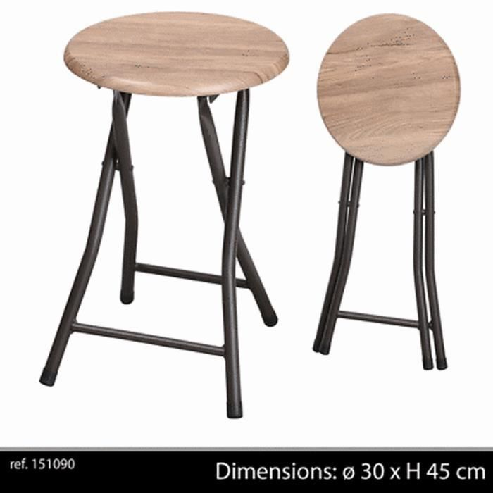 tabouret pliant bois achat vente pas cher. Black Bedroom Furniture Sets. Home Design Ideas