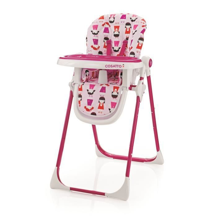 Cosatto chaise haute noodle supa dilly dolly blanc et rose for Chaise haute bebe carrefour