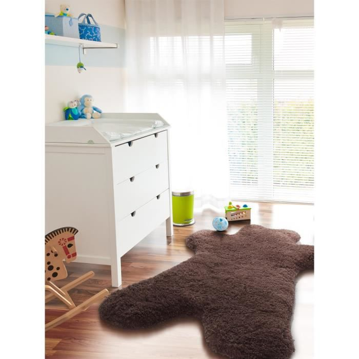 mexx tapis enfant teddy marron 107x140 cm achat vente tapis cdiscount. Black Bedroom Furniture Sets. Home Design Ideas