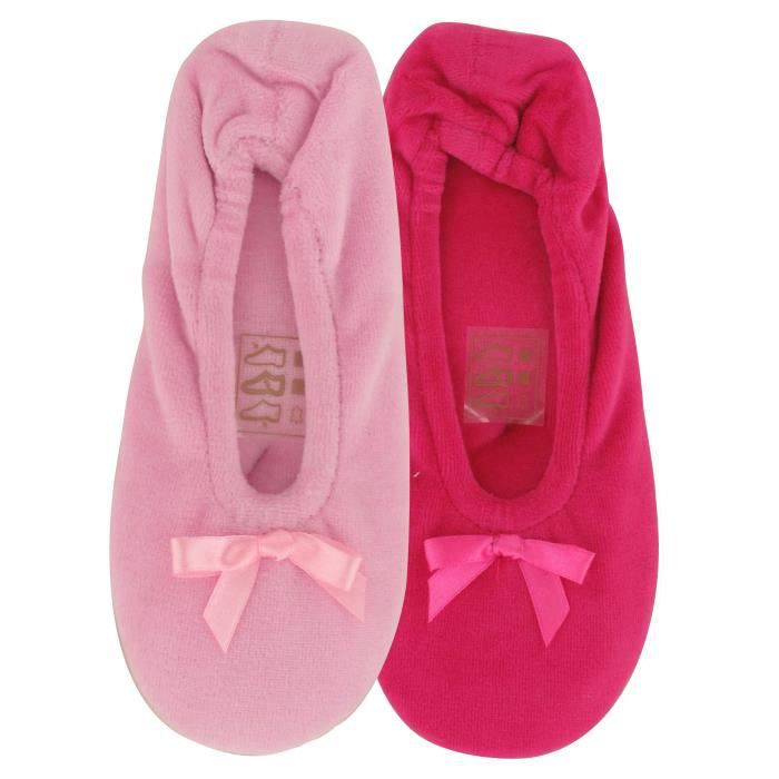 Chaussons Ballerines Velours Enfant Fille X2 Ma... b18gMPcv