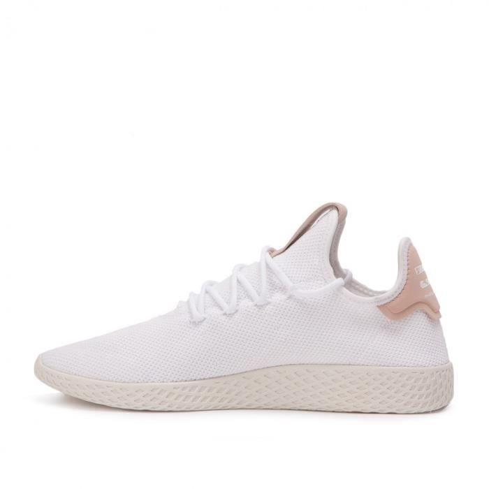 adidas Originals Pharrell Williams Tennis Hu Baskets Blanc et rose