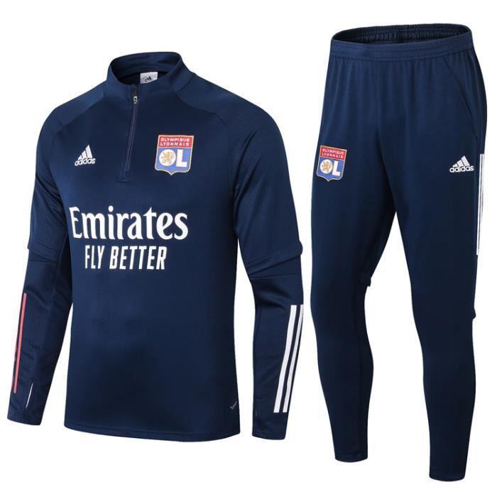 Nouveau Survêtement Olympique Lyonnais Maillot De Foot Survet Lyon Kit 2020 2021 Pas Cher Pour Homme Prix Pas Cher Cdiscount