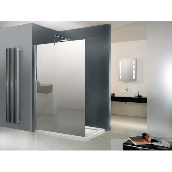 paroi de douche fixe walk in free 90 x 200 cm miroir. Black Bedroom Furniture Sets. Home Design Ideas