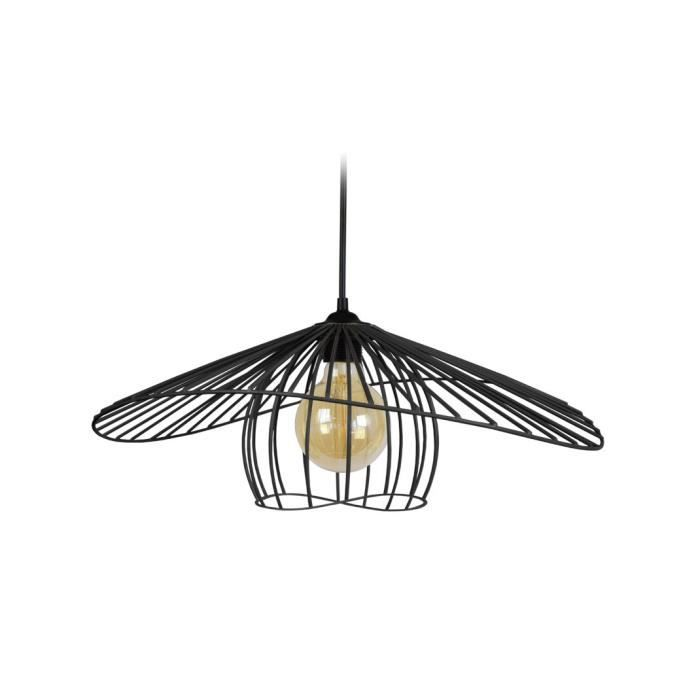 LUSTRE ET SUSPENSION LADY Supension filaire - 50 x 45 x H90 cm - Noir -