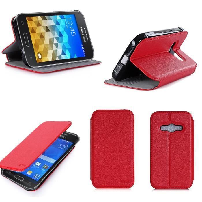 Etui coque Samsung Galaxy Trend 2 Lite rouge - Hou