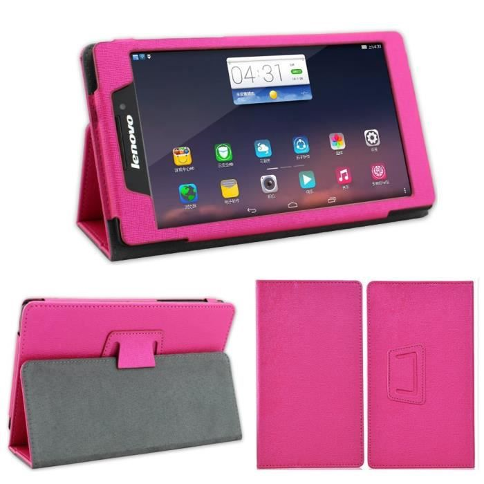 etui coque tablette lenovo tab 2 a7 10 7 pouces rose housse pochette achat housse. Black Bedroom Furniture Sets. Home Design Ideas
