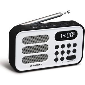 SCHNEIDER SC150ACLWHT Radio Portable Handy Mini - Blanc