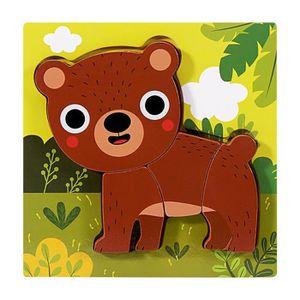 CONSOLE ÉDUCATIVE Puzzles animaux en bois pour tout-petits 1 2 3 ans