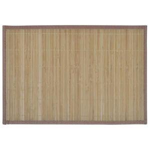 SET DE TABLE Sets de table 6 Napperons en bambou 30 x 45 cm Bru