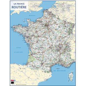 PACK PRÉSENTATION Carte murale souple pelliculée effaçable France Ro