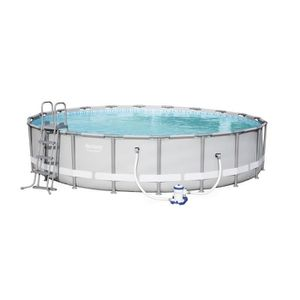 PISCINE BESTWAY Kit pisince ronde Power Steel Frame Pool -