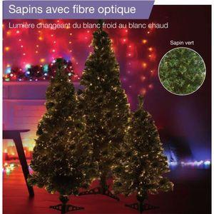 SAPIN - ARBRE DE NOËL Sapin vert de Noël en PVC - H 60 cm - Fibre optiqu