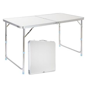 TABLE DE CAMPING Finether Table de Camping Pliante 120X60X70 cm en