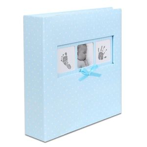 ALBUM - ALBUM PHOTO Album photo Naissance à pochettes Polka Bleu pour