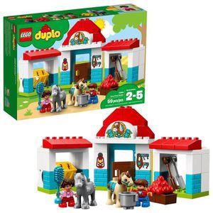 ASSEMBLAGE CONSTRUCTION Lego Duplo Ferme Ville Poney Stable 10868 Kit de c