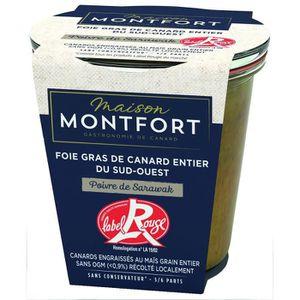 PATÉ FOIE GRAS MAISON MONTFORT Foie gras de canard entier - LABEL