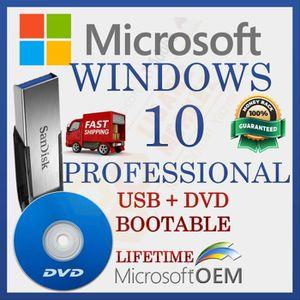 SYSTÈME D'EXPLOITATION MS Windows 10 Professional | Lecteur USB + DVD | A