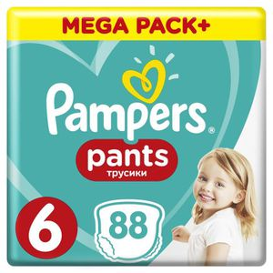 COUCHE PAMPERS Pants Taille 6, 88 pcs