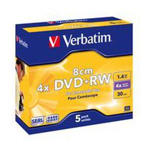 CD - DVD VIERGE Verbatim DVD+RW (8cm) x 5 - 1.46 Go