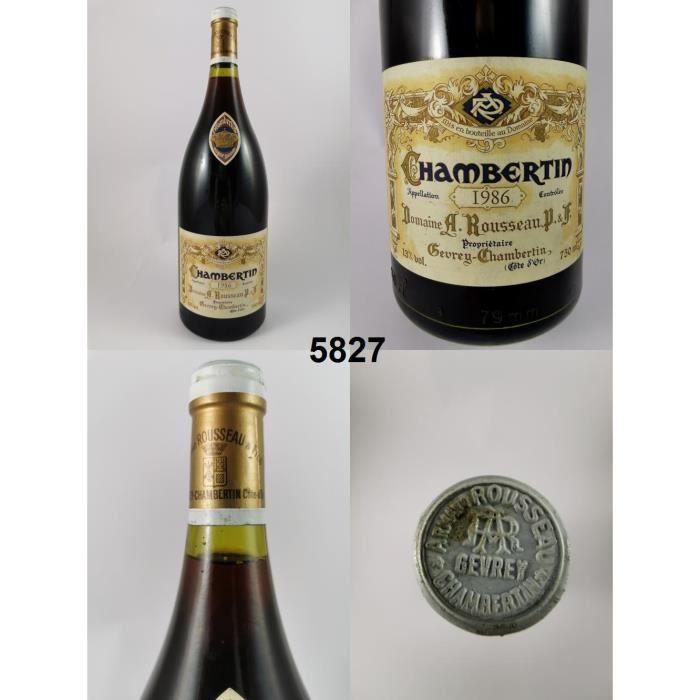 Chambertin - Rousseau (Magnum) 1986 - N° : 5827, Chambertin, Rouge