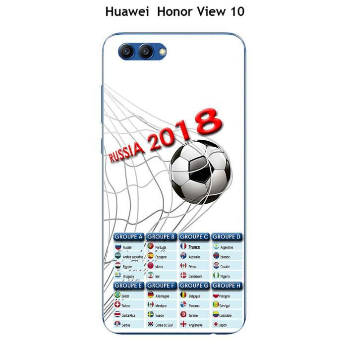 Coque Huawei Honor View 10 design Foot - 1 - Coupe du monde Russie 2018