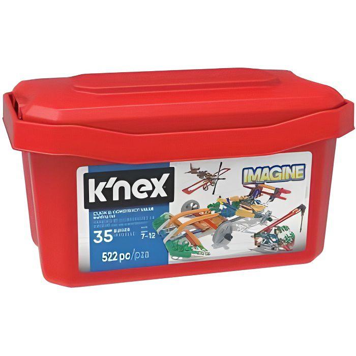 Super Box Baril creation 35 modeles 522 pieces Knex - Imagine, Construction - Jeu enfant 7 ans et plus