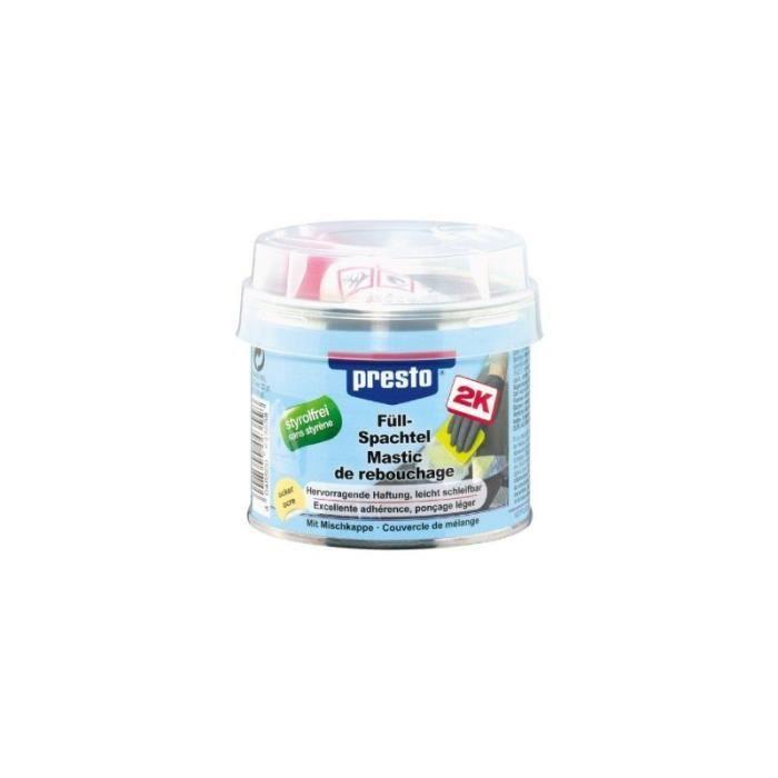 Mastic de rebouchage polyester presto bg 250 g