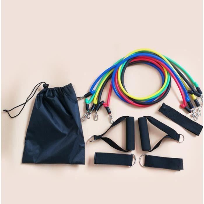 Bandes Elastiques Musculation, Bandes De Résistance Set, Fitness Elastiques Kit, pour Musculation, avec Poignées