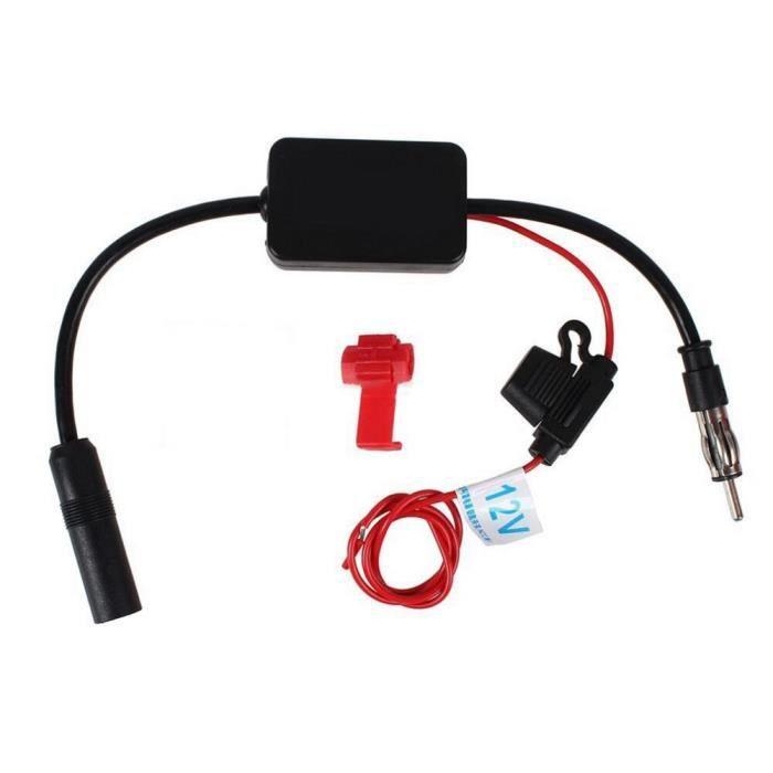 Amplificateur d'antenne Radio Fm Am, 80 108Mhz, Ant 208, 12V, pour voiture, bateau, automobile Black -FY1754