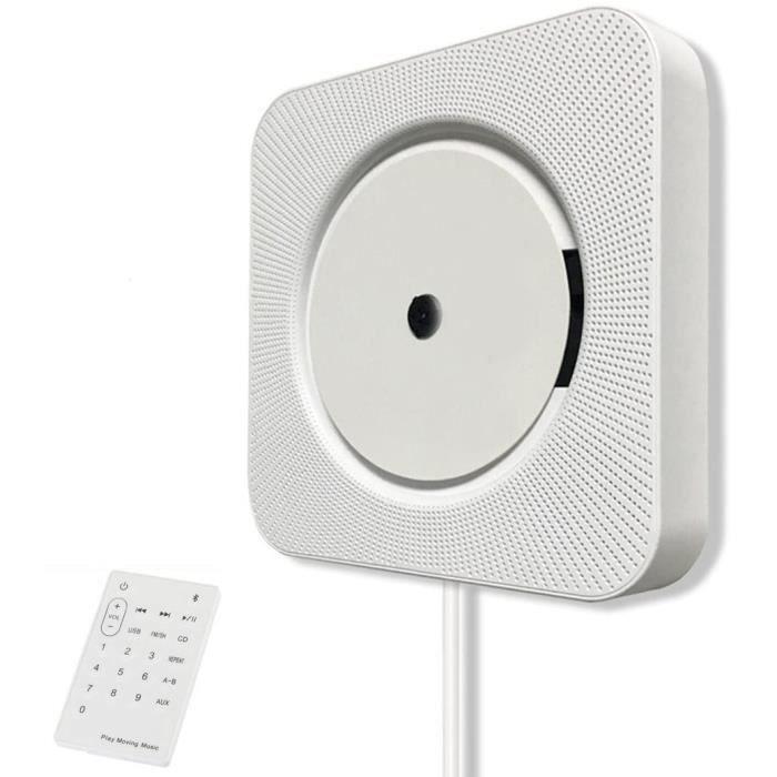 Lecteur CD Mural, EONANT 5 en 1 Bluetooth Boombox Mural Portable Home Audio Lecteur CD avec Télécommande Radio FM Haut-parleurs ,466