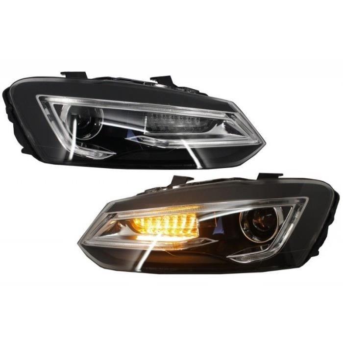 Phares LED XENON CACHÉS Pour VW Volkswagen POLO 6R 6C 61 11-17