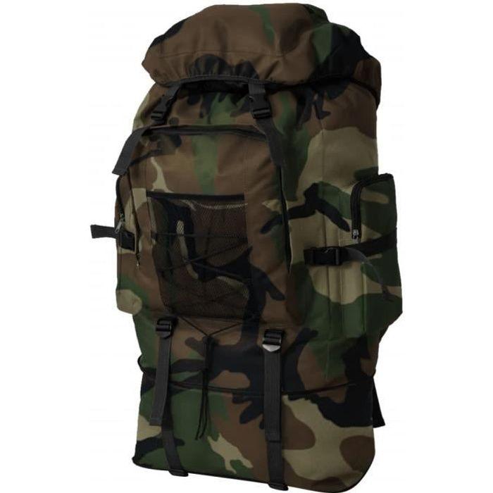Bohushop® Sac à dos armée militaire randonnée tactique alpinisme XXL 100 L