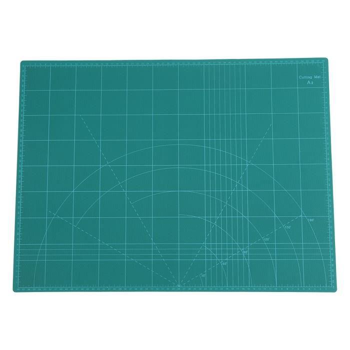 Tapis Plaque de Découpe, A2 Durable 5-Couches Tapis de Coupe en PVC Outil de Sculpture à la Main Bricolage vert