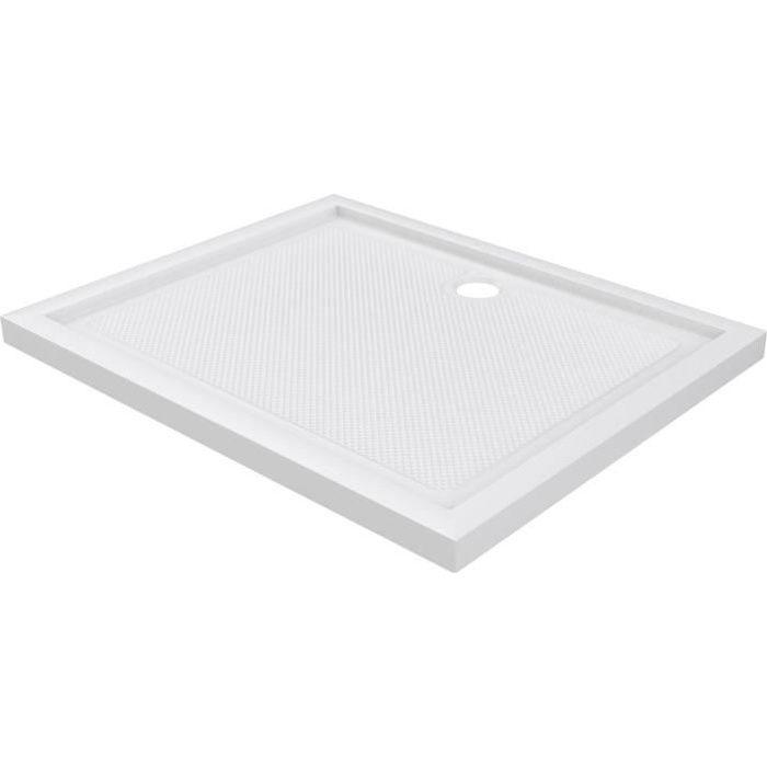 AURLANE receveur pure acrylique 100x80 cm extra plat