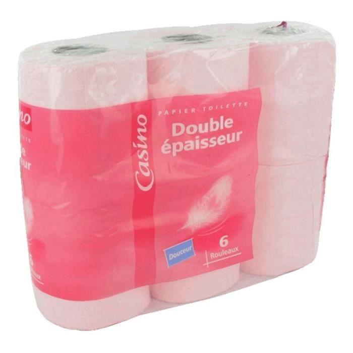6 Rouleaux de Papier toilette - 2 plis - Rose