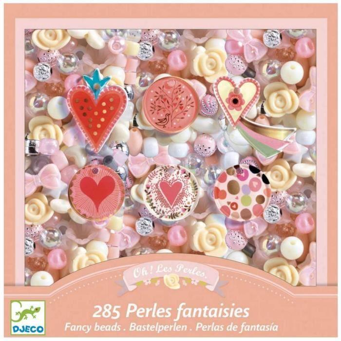 Coffret Perles Fantaisies Coeurs Coloris Unique
