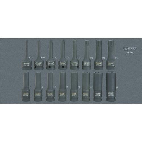 Module de douilles à chocs 1/2-, 16 pièces KS TOOLS 713.1016