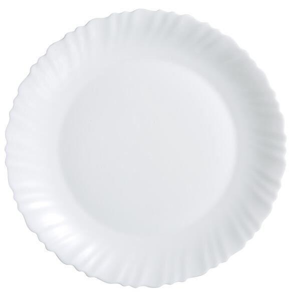 Plat de service 30 cm blanc - Feston