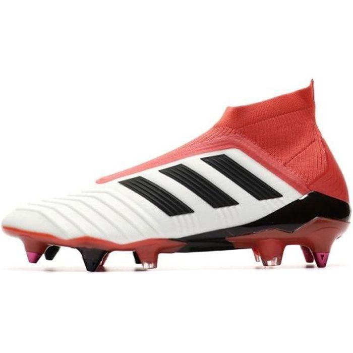 Chaussures de rugby Predator 18+ SG blanc homme Adidas