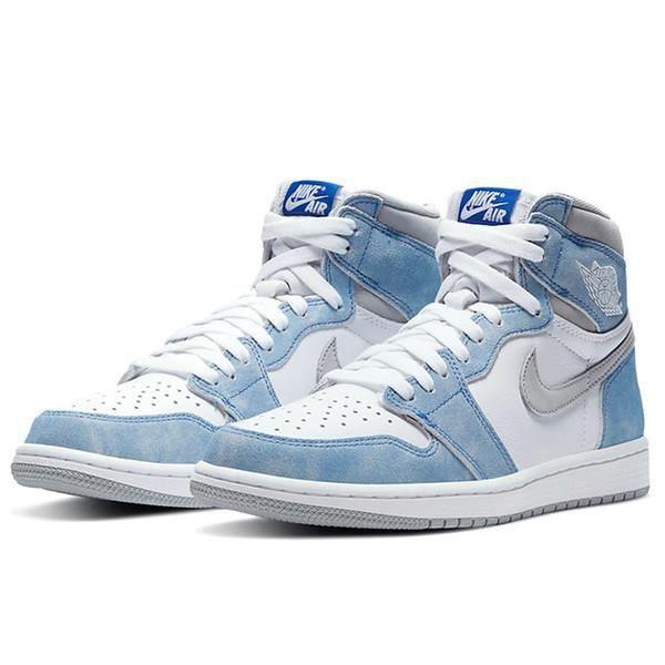 Air Jordans 1 High OG -Hyper Royal- Chaussures de Courses pour Femme Homme Bleu Blanc