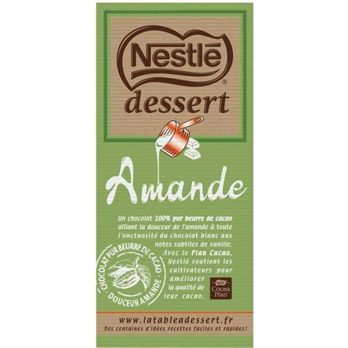 Nestlé - Nestlé Dessert Amande 180g (lot de 3)