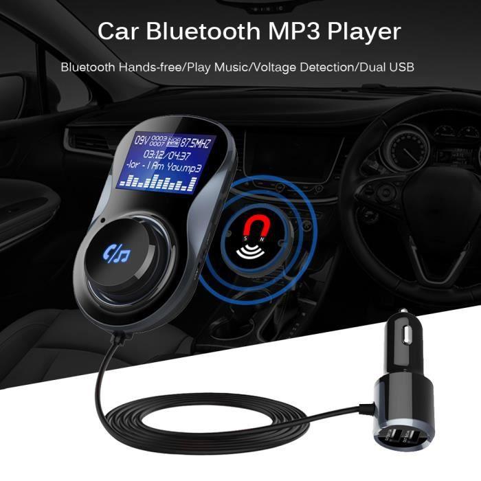 Bluetooth FM Transmetteur 3.4A Double USB Chargeur Voiture FM Adaptateur Soutien Mains Libres Appel TF Carte