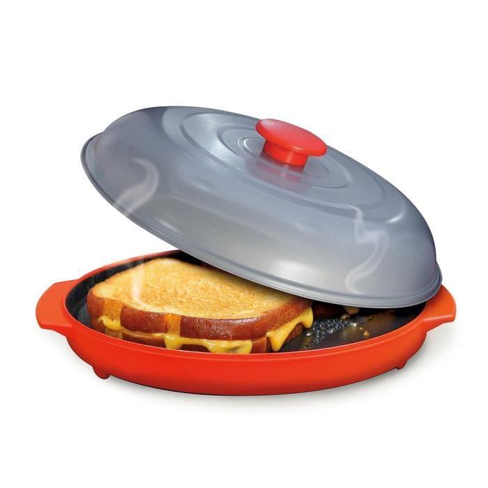 Bac à micro-ondes avec poêle pour gril et cuisinière pour le four de cuisson pour la cuisine
