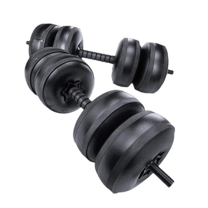 1 paire haltère Prime Premium Professional Barbells aquatiques durables pour Voyage barre - haltere - poids fitness - musculation