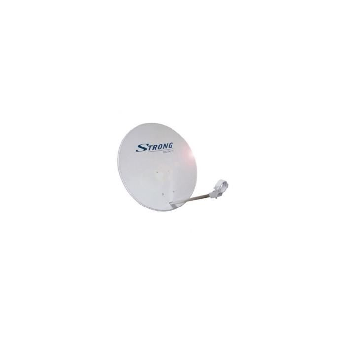 STRONG Antenne Satellite 65 cm + Tête LNB Single Universel Full HD