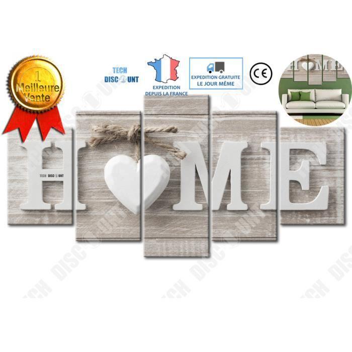 TD® Décoration Murale 5 pièces LOVE HOME/Peinture murale à Jet d'encre toile peinture Décorative peinture sans cadre