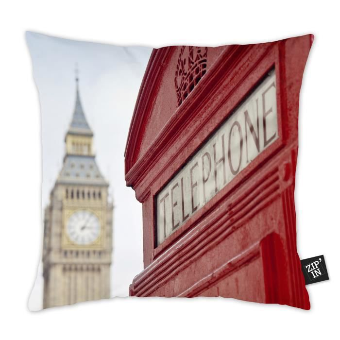 Housse de coussin 40x40 100% coton LONDON Big Ben